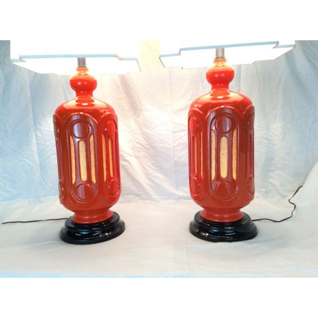 Image of Mid-Century Orange Lamps