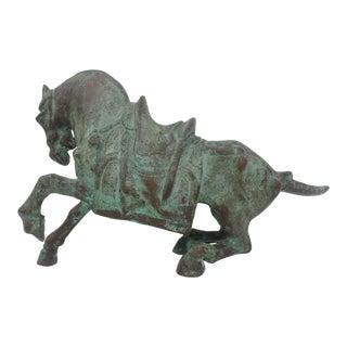 Vintage Horse Bronze Sculpture