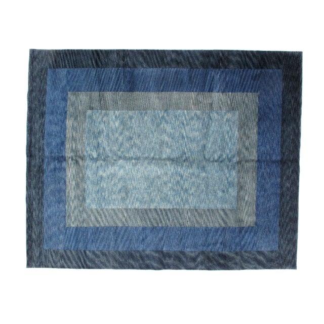 Leon Banilivi Blue Gabeh Carpet- 8′ × 10′ - Image 2 of 5