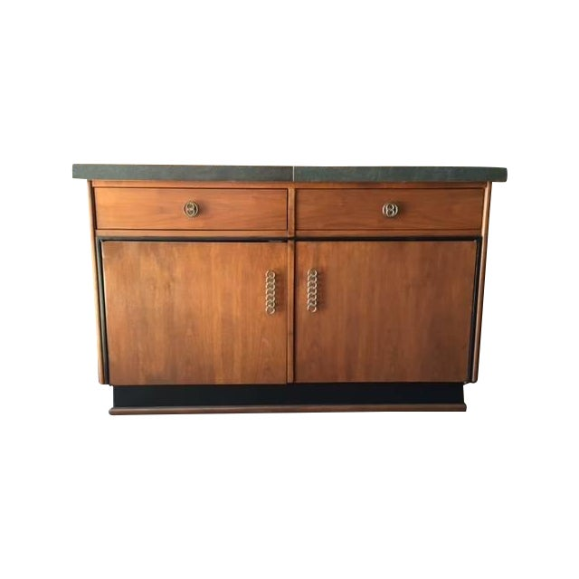 Image of Mid Century Transforming Cocktail Bar Cabinet