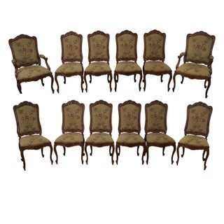 Bau Furniture French Louis XV Style Versailles Dining Chairs- Set of 12