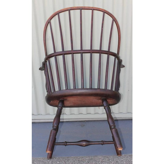 18th Century Sack Back Windsor Armchair - Image 4 of 5