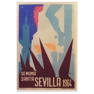 1964 Spanish Travel Poster, Sevilla