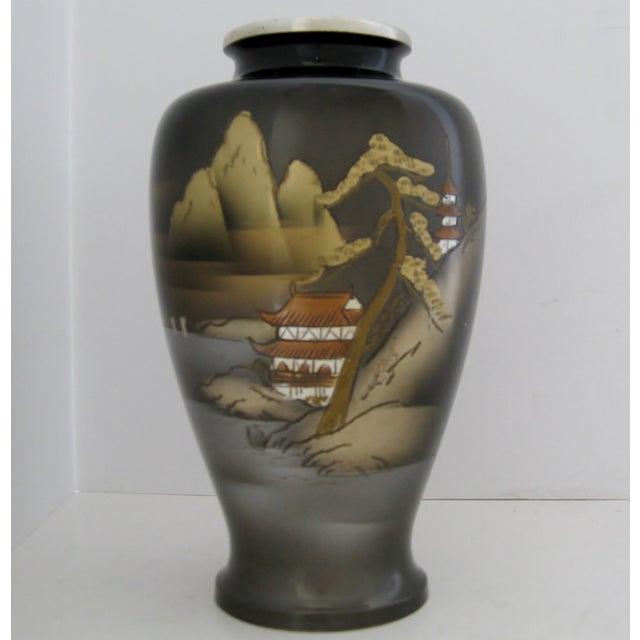 Vintage Meiji Metalwork Vases - A Pair - Image 4 of 11