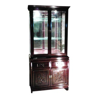 Chinese Rosewood Display Cabinet Hutch