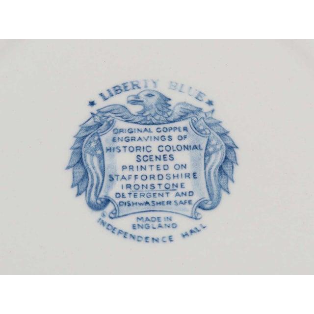 Vintage Mismatched Ironstone Dinner Plates - Set of 4 - Image 4 of 11