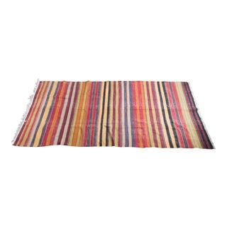 Vintage Turkish Kilim Carpet - 5' x 10.5'