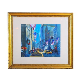 """""""Downtown Manhattan 4th July,"""" Oil Painting"""