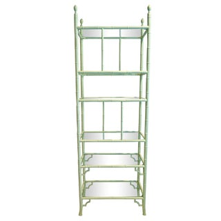 Aluminum Chippendale Faux Bamboo Etagere