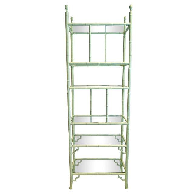 Aluminum chippendale faux bamboo etagere chairish - Etagere aluminium design ...