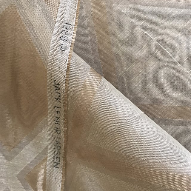 Jack Lenor Larsen Modern Metallic Fabric - Image 6 of 6