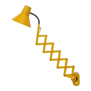 Poppy Yellow Wall Mount Scissor Lamp