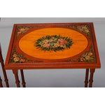 Image of English Adam Style Painted Nesting Tables - S/4