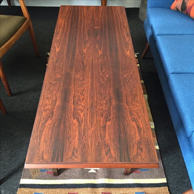 Danish Modern Rosewood Coffee Table - Image 4 of 8