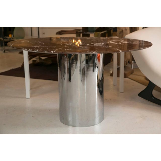 Mid-Century Red Marble Table in Brueton Style - Image 2 of 7