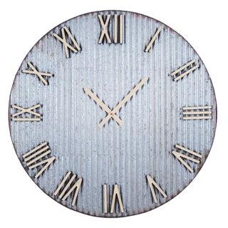 Corrugated Metal Wall Clock