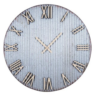 Corrugated Metal Wall Clock