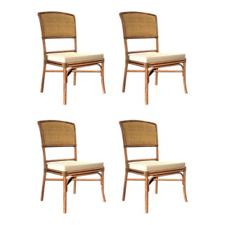 David Francis Cane Back Dining Side Chairs - Set of 4