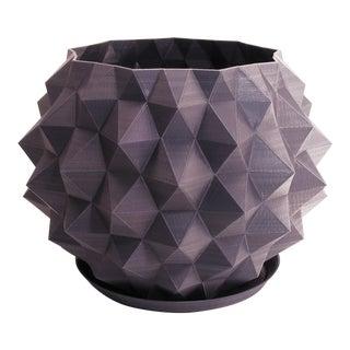 Round Orb Geometric 3d Printed Plastic Planter Pot