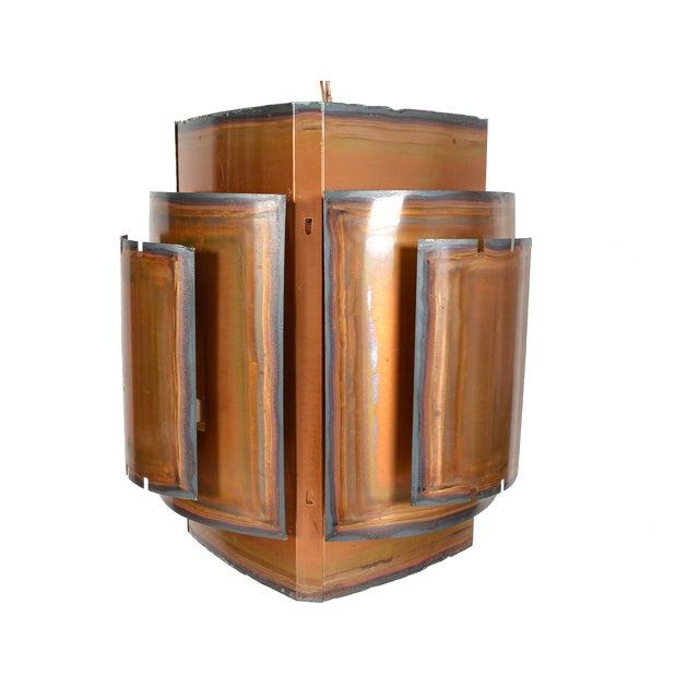 Image of Danish Modern Brass Brutalist Pendant