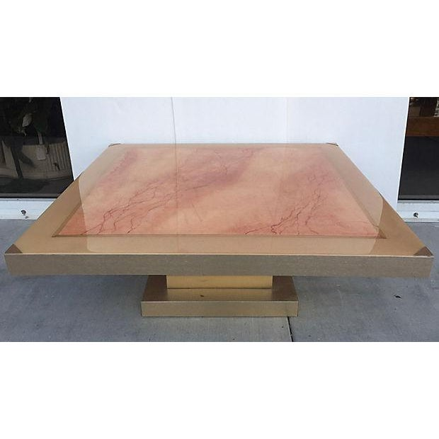 Faux Marble Square Coffee Table - Image 2 of 7
