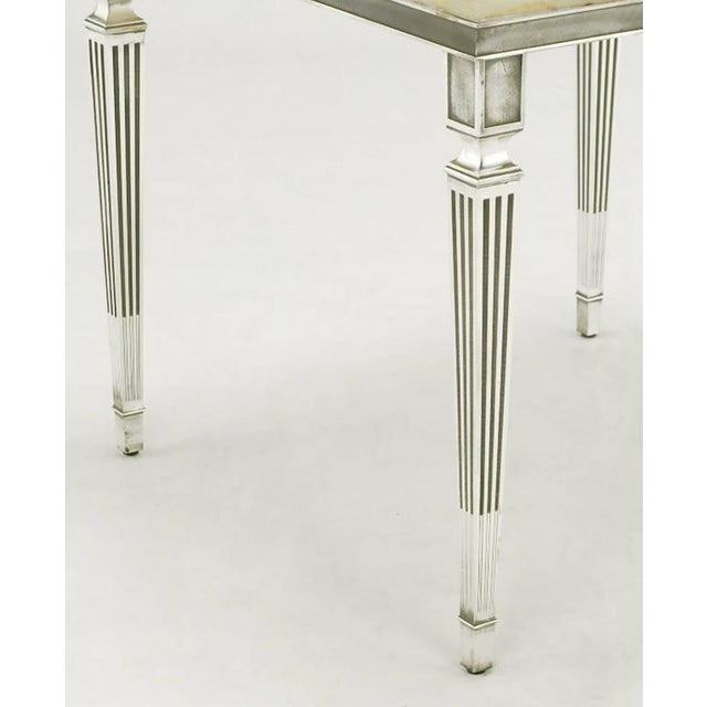 Pair of 1940s Silver Plated Bronze and Onyx End Tables - Image 7 of 7