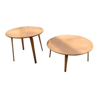 Vintage Thonet Coffee & Side Tables - A Pair