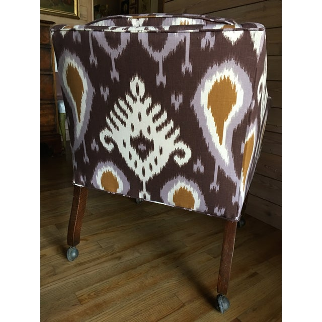 Ikat Linen Chair - Image 5 of 5