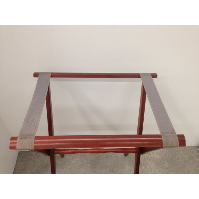 Mid-Century Leather Butler's Tray Table - Image 6 of 6