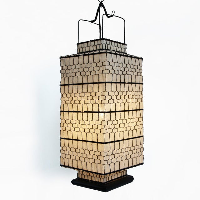 Square Heibe Wire Lantern Medium - Image 2 of 4