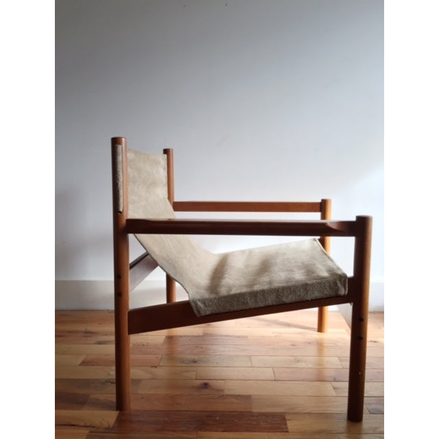 Michael Arnoult Suede Easy Chair - Image 2 of 3