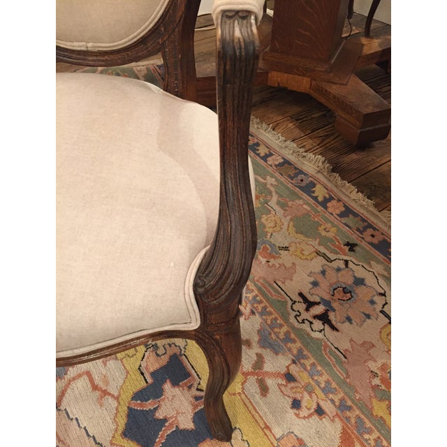 1920's French Dining Chairs With Arms - A Pair - Image 5 of 6