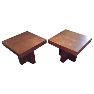 Milo Baughman Cruciform Occasional Tables - Pair