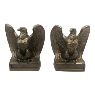 Brass Tone US Congress American Eagle Bookends