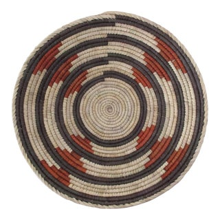 Native American Gray & Rust Circle Basket