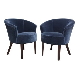 Pair of English George Smith 'Petworth' Tub Chairs in Mohair