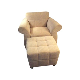 Kravet Accent Chair & Ottoman
