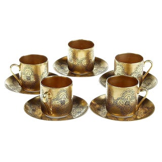 Arabia Gilda Espresso Coffee Cups S/5