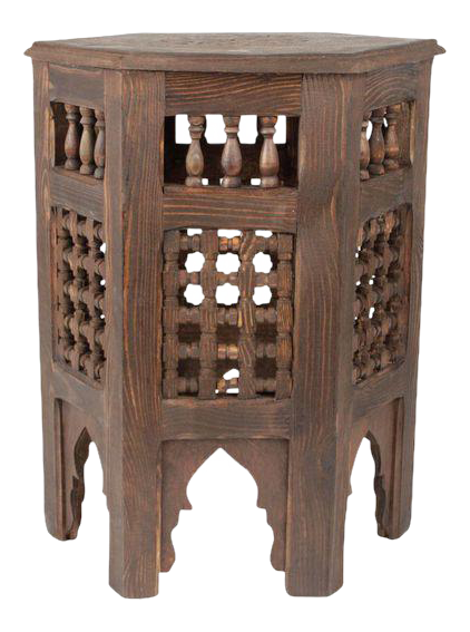 Zagora Moroccan Redwood Side Table