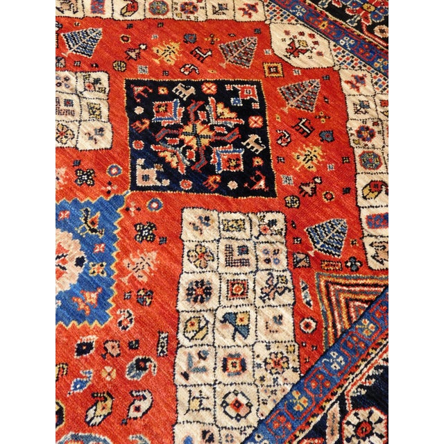 "Persian Tribal Rugs: Handmade Persian Tribal Rug - 4'10""x 6'6"""