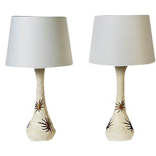 1950s Atomic Table Lamps - A Pair