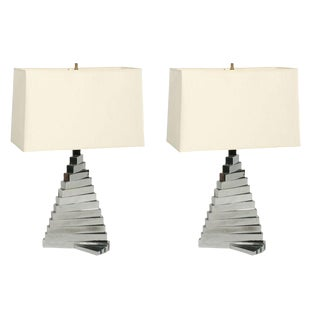French Twist Table Lamps - a Pair