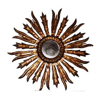 Antique French Gilt Wood Sunburst Mirror