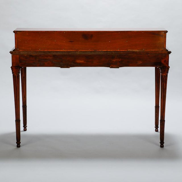 French Writing Desk With Carved Details And Back Plinth Image 5 Of 10