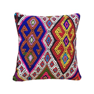 Turkish Embroidered Kilim Pillow