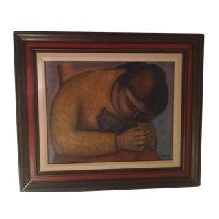 "1974 Arnaldo Miccoli ""Maunuela"" Painting"