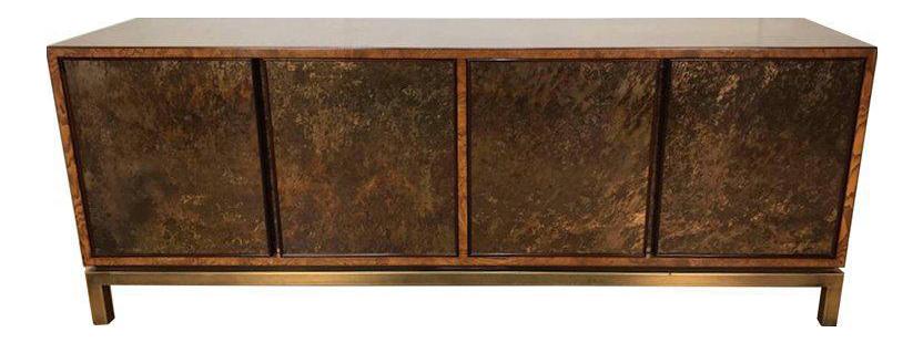 Captivating Stunning Acid Washed Bronze Sideboard By John Widdicomb
