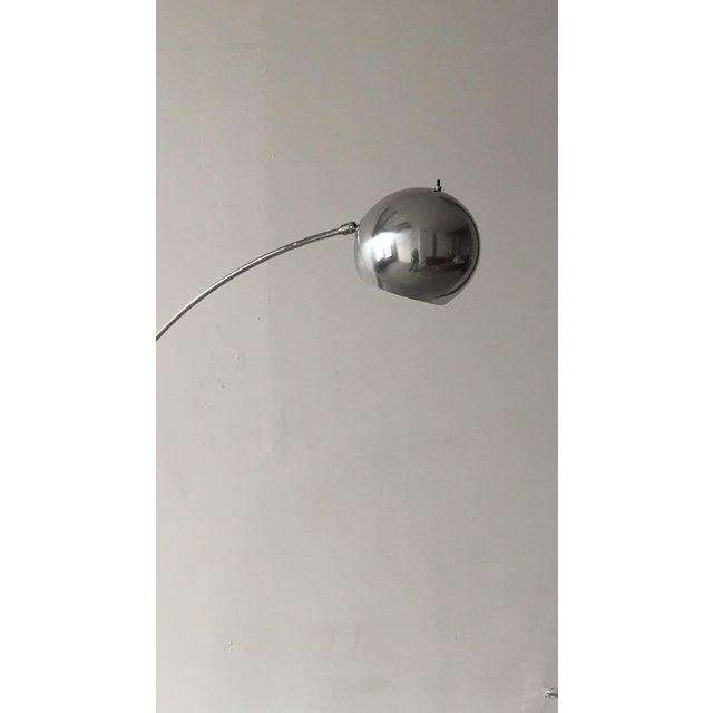 Mid Century Orb Lamp: Chrome Mid Century Arch Eye Ball Orb Lamp