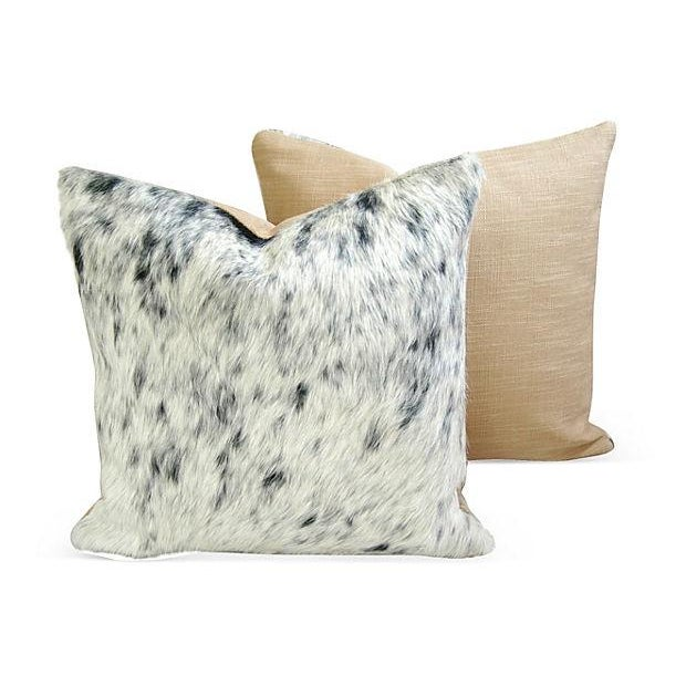 Black, White & Gray Cowhide Pillows - A Pair - Image 3 of 6