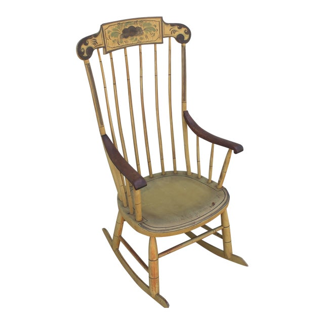 19th Century Fancy Original Painted Rocking Chair from New England - Image 1 of 10
